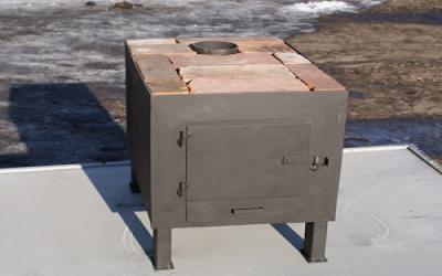 Печка буржуйка своими руками обогреет небольшое помещение