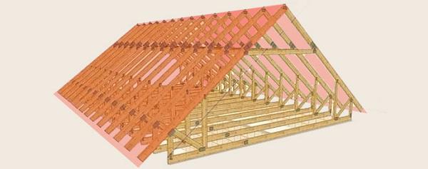 Как собрать двухскатную крышу своими руками