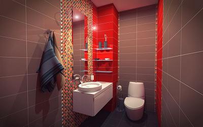 Интерьер туалета в квартире можно придумать самостоятельно