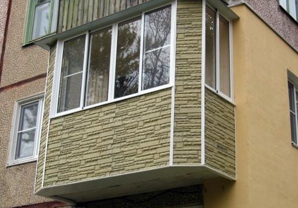 Балкон своими руками внешняя отделка